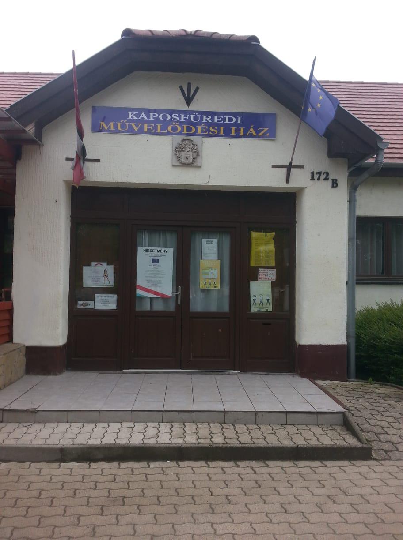 Kaposfüredi Művelődési Ház 7451 Kaposvár, Kaposfüredi út 172. Hétfő: 17:00-19:00